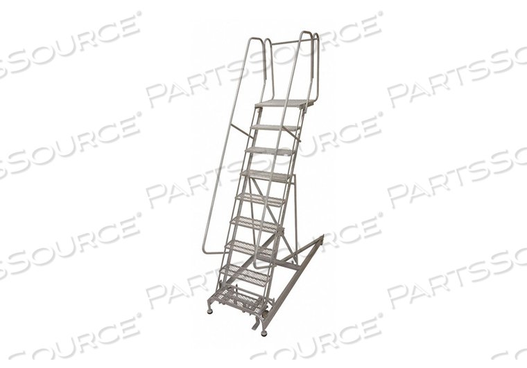 ROLLING LADDER STEEL 140IN. H. GRAY by Cotterman