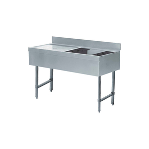 ICE BIN/COCKTAIL STATION, 48X21X8 W/COLD PLATE, L DRNBRD, 75LBS ICE CAP by Advance Tabco