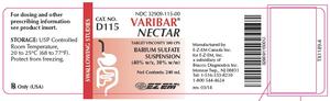 VARIBAR NECTAR BARIUM SULFATE SUSPENSION, (40% W/V, 30% W/W), 240 ML BOTTLES (D115) by Bracco Diagnostics, Inc.