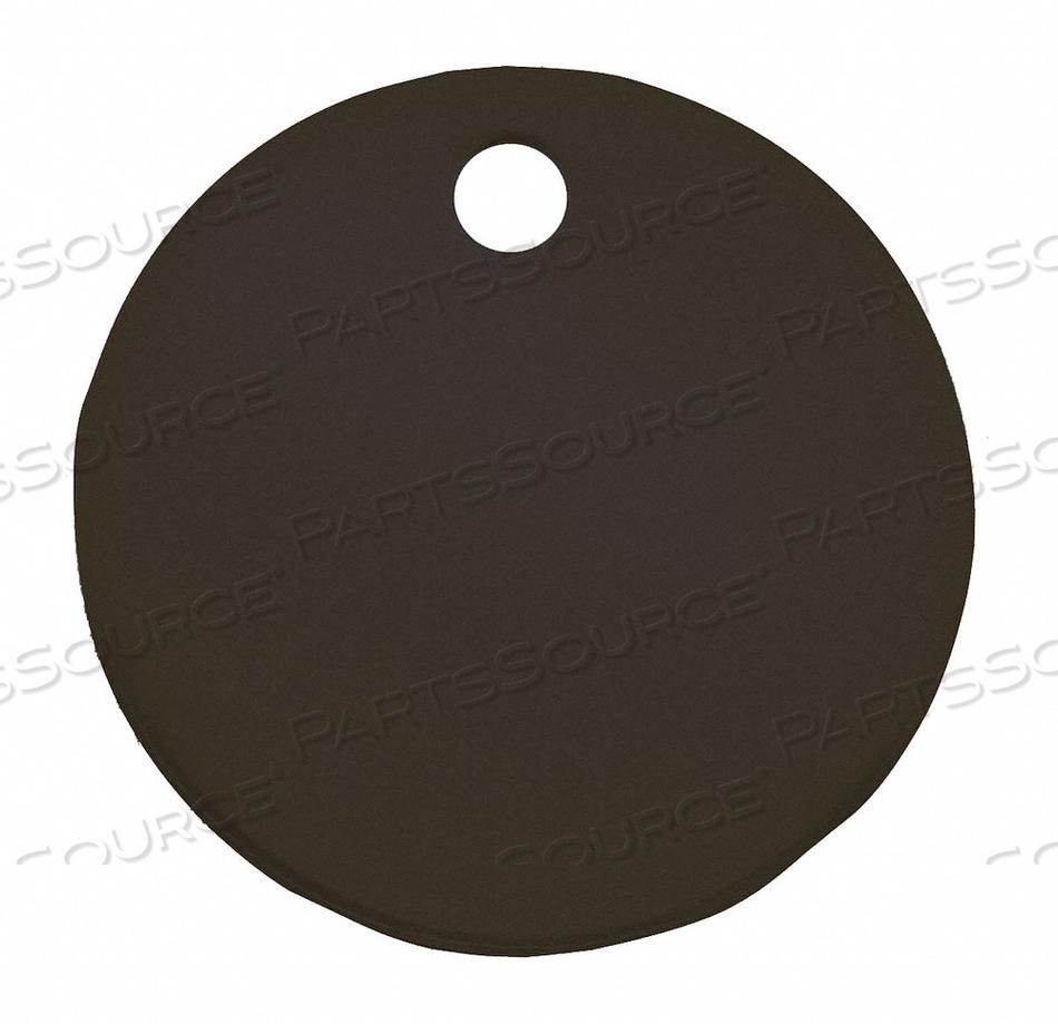 BLANK TAG ROUND BLACK PK5 by C.H. Hanson