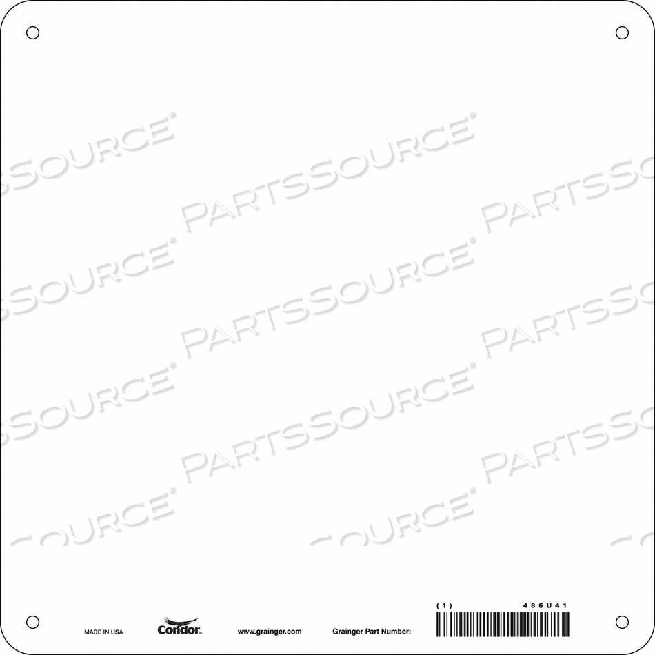 SAFETY SIGN 10 W 10 H 0.320 THICK PK10 by Condor