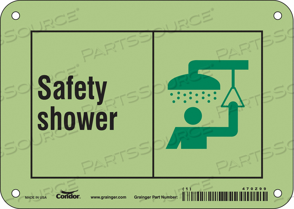 SAFETY SIGN 7 W X 5 H 0.070 THICK by Condor
