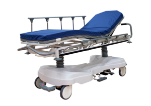 AMICO TITAN TRANSPORT STRETCHER WITH 550LBS CAPACITY OFFERS ADJUSTMENT WITH HEIGHT, BACK ELEVATION, KNEE ELEVATION, TRENDELENBURG AND REVERSE-TRENDELENBURG POSITIONS. INCLUDES LOW HEIGHT, DUAL OXYGEN TANK STORAGE, CPR FUNCTION, 8-INCH TENTE½ SWIVEL CASTERS, 5TH WHEEL, AND RADIOLUCENT BACKR by Amico Accessories Inc.