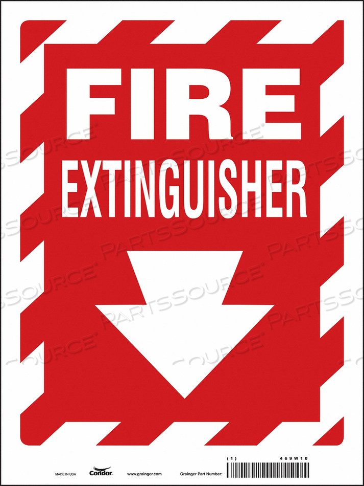 J7049 SAFETY SIGN 9 W 12 H 0.004 THICKNESS by Condor