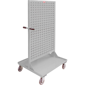 """STEEL MOBILE DOUBLE SIDED BIN RACK - ALL-WELDED 36"""" X 68"""", 8"""" CASTERS by Jamco"""