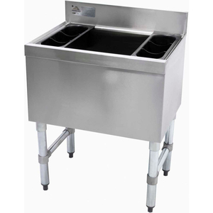 SLIMLINE COCKTAIL UNIT, 18X36X16 COLD PLATE, 220-LBS. ICE CAPACITY by Advance Tabco