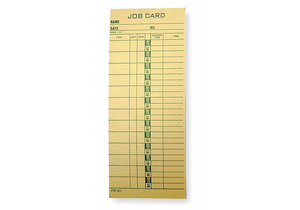 JOB COST TIME CARD PK1000 by Amano