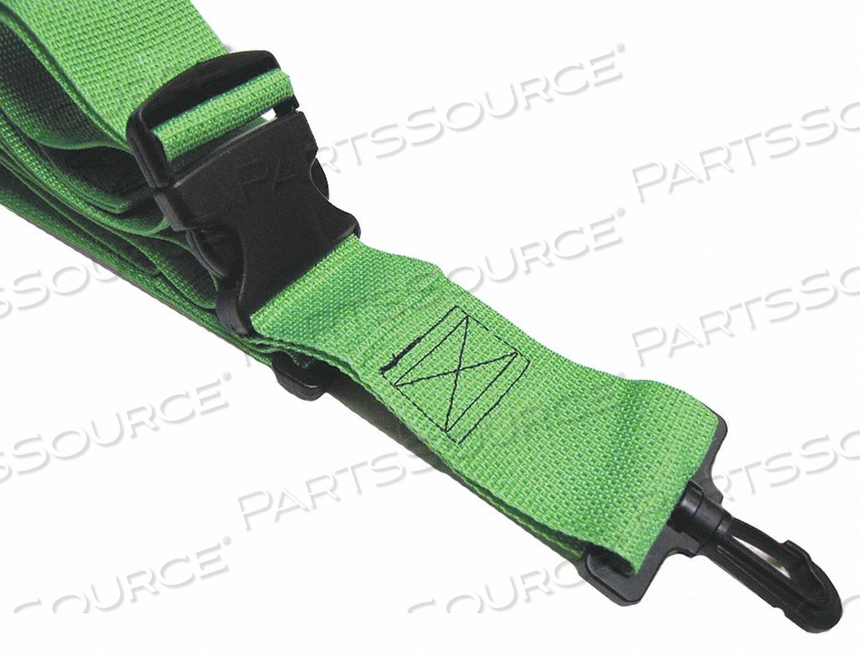 STRAP NEON GREEN 2 FT L by Disaster Management Systems (DMS)