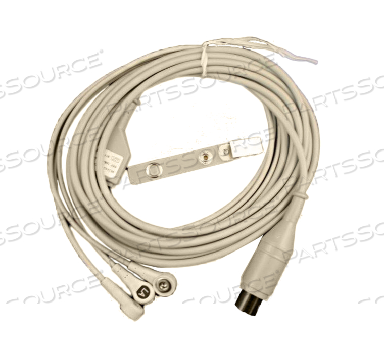 3 LEAD SNAP ECG AHA CABLE ASSEMBLY