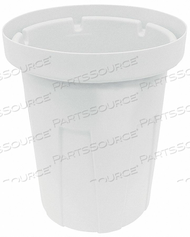 TRASH CAN 55 GAL. WHITE by Tough Guy