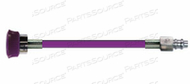 CONDUCTIVE HOSE ASSEMBLY, WAGD, 1/4 IN OD, PURPLE, DISS HAND TIGHT X MALE CONNECTION, 15 FT by Amvex (Ohio Medical, LLC)
