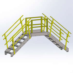 """CROSS OVER BRIDGE, 35"""" OVERALL WIDTH, 6 STAIRS by Equipto"""