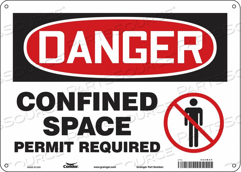 SAFETY SIGN 10 H 14 W PLASTIC by Condor