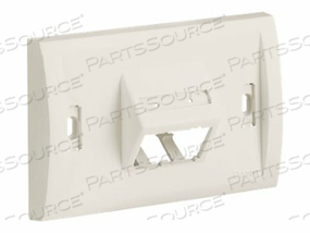 PANDUIT MINI-COM ULTIMATE ID EXECUTIVE SERIES - FACEPLATE - WHITE - 1-GANG - 2 PORTS