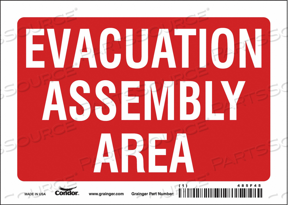 J9330 SAFETY SIGN 7 WX5 H 0.004 THICK by Condor