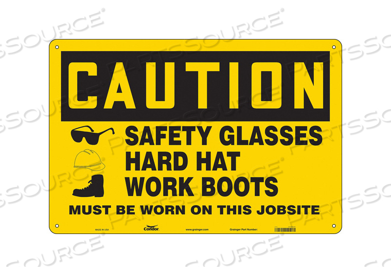 SAFETY SIGN 36 WX24 H 0.055 THICKNESS by Condor
