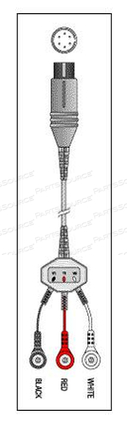 PATIENT CABLE - 3 LEAD FIXED SNAP by Replacement Parts Industries (RPI)
