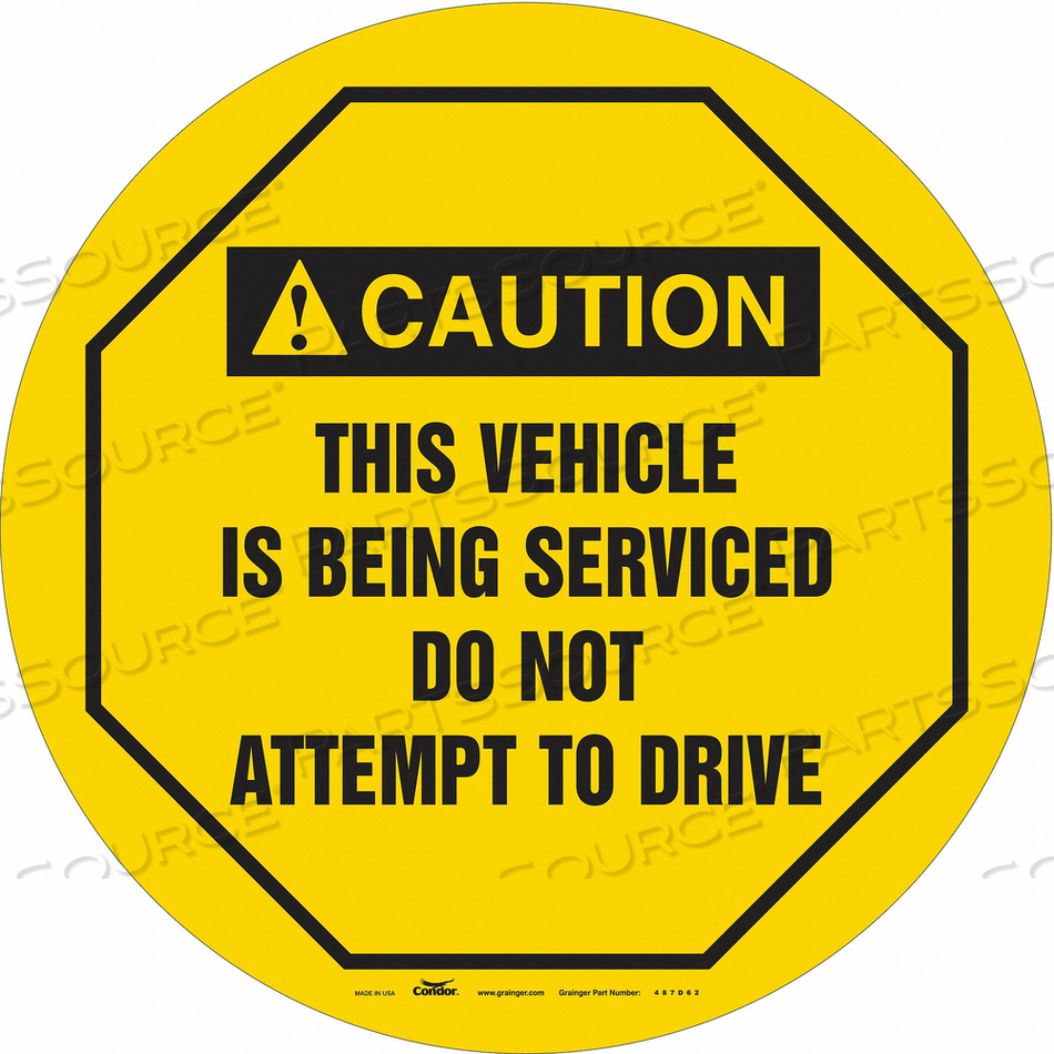 TRAFFIC SIGN 16 W 16 H 0.026 THICKNESS by Condor