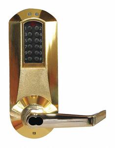 ELECTRONIC LOCKS 5000 BRIGHT BRASS by Kaba
