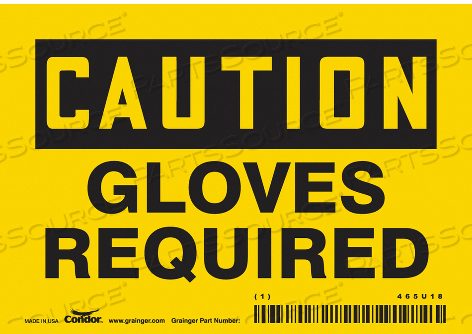 K2006 SAFETY SIGN PERSONAL PROTECTION 3-1/2 H by Condor
