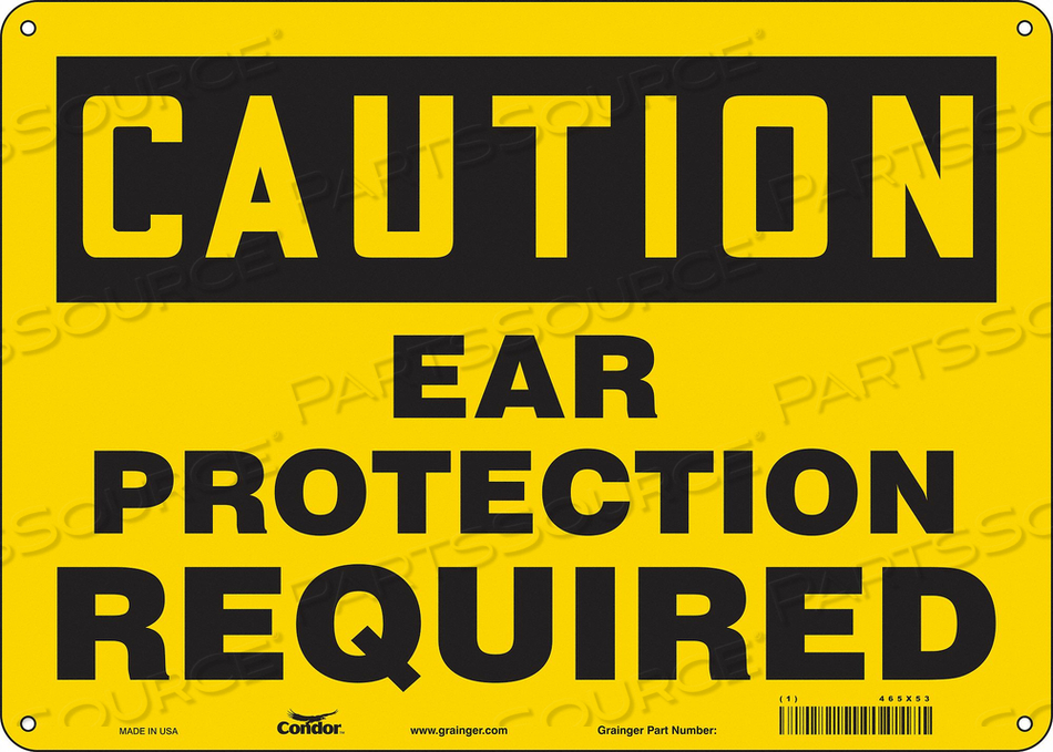SAFETY SIGN 14 W 10 H 0.055 THICKNESS by Condor