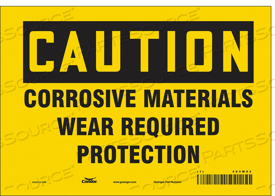 J6946 SAFETY SIGN 10 W 7 H 0.004 THICKNESS by Condor