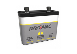 BATTERY FENCE/IGNITION, CARBON ZINC, 6V, 12 AH by Rayovac