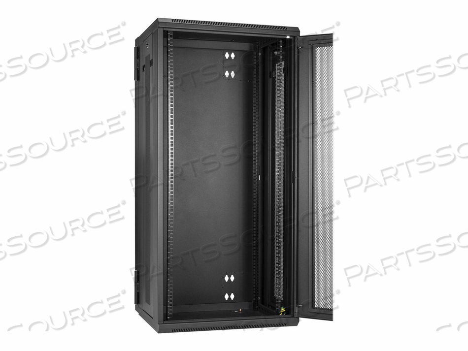 STARTECH.COM 26U WALL-MOUNT SERVER RACK CABINET - 20 IN. DEEP - HINGED - RACK ENCLOSURE CABINET - WALL MOUNTABLE - BLACK - 26U by StarTech.com Ltd.