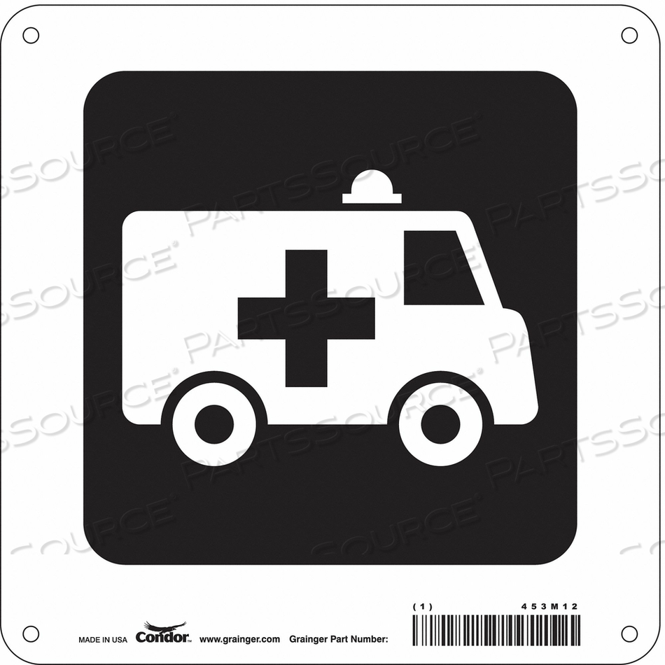 HOSPITAL SIGN 8 H X 8 W 0.032 THICK by Condor