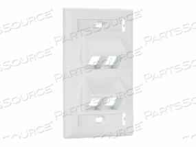 PANDUIT NETKEY - FACEPLATE - OFF WHITE - 1-GANG - 4 PORTS by Panduit