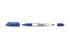 F5596 TWIN TIP PERMANENT MARKER BLUE PK12 by Sharpie