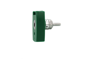 QUICK CONNECT COUPLER, 1/4 IN HOSE BARB X FEMALE, OXYGEN, GREEN by Bay Corporation