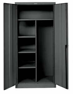 COMBO WARDROBE CABINET 78 H 36 W BLACK by Hallowell