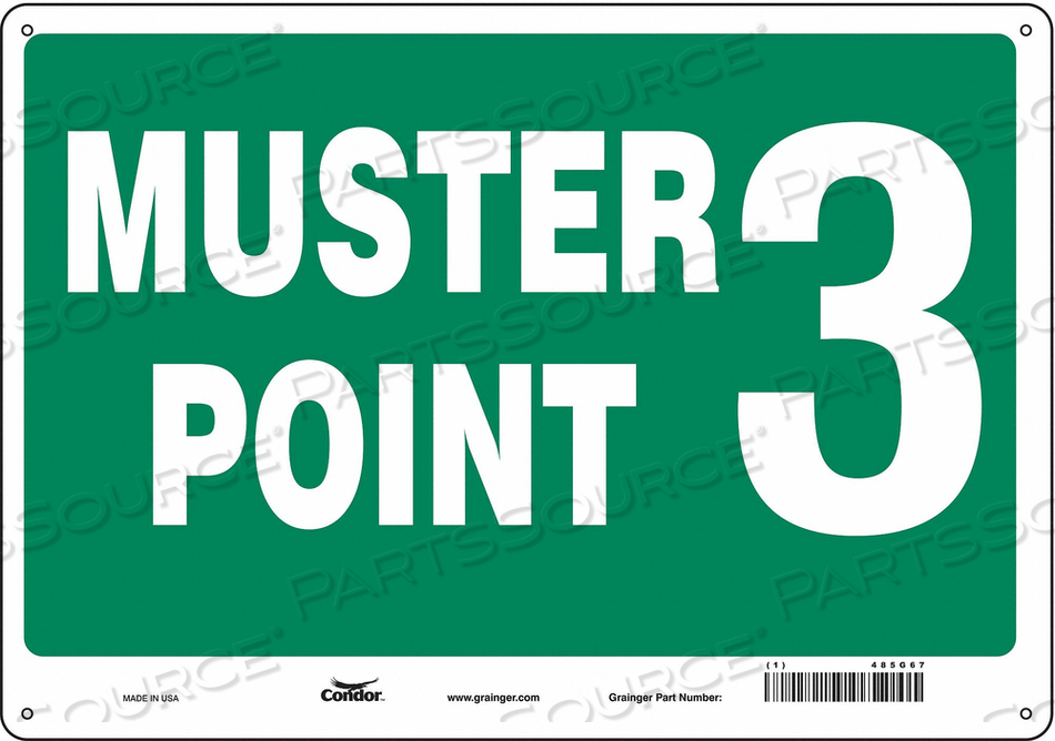 SAFETY SIGN 20 WX14 H 0.032 THICK by Condor