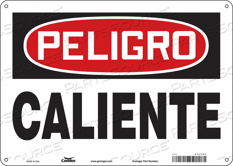 DANGER SIGN 14 W X 10 H 0.060 THICK by Condor