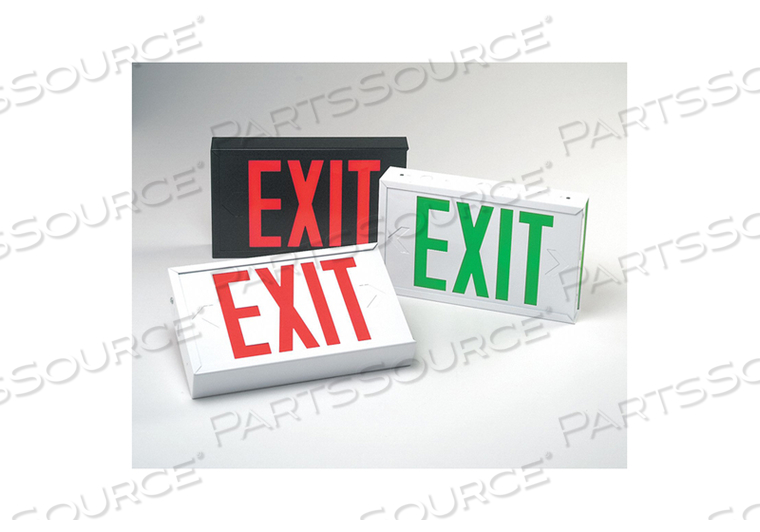 EXIT SIGN 1.7W RED 2 7-1/2 IN H by Big Beam