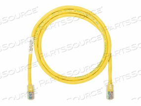 PANDUIT NETKEY - PATCH CABLE - RJ-45 (M) TO RJ-45 (M) - 6.6 FT - UTP - CAT 5E - IEEE 802.3AF/IEEE 802.3AT/IEEE 802.3BT - SNAGLESS, STRANDED - YELLOW - (QTY PER PACK: 25) by Panduit