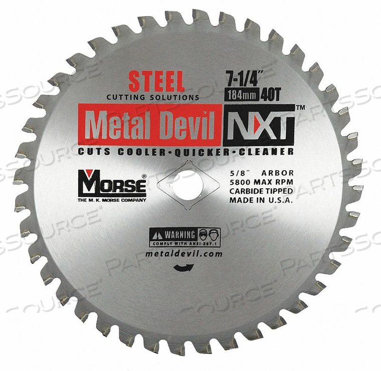 CIRCULAR SAW BLADE BLADE DIA 7-1/4 IN. by Morse