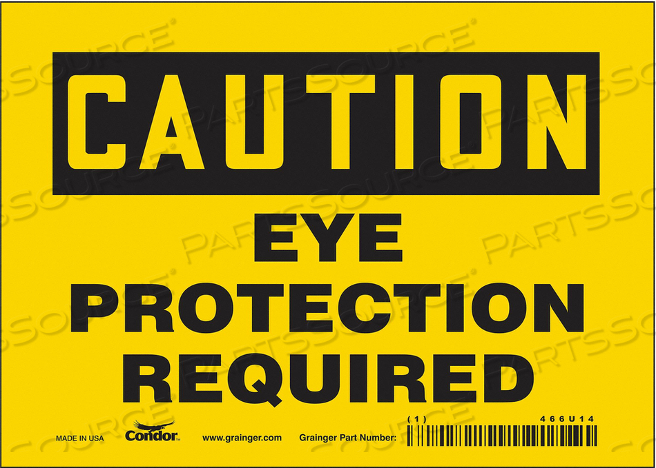 K0276 SAFETY SIGN 7 W 5 H 0.004 THICKNESS by Condor