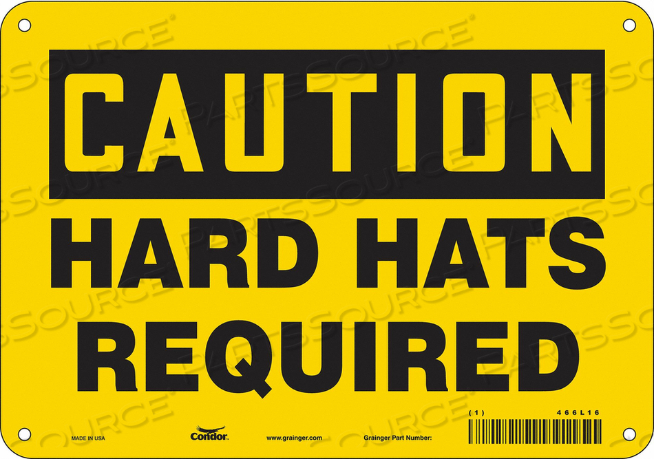 K0377 SAFETY SIGN PERSONAL PROTECTION 7 H by Condor