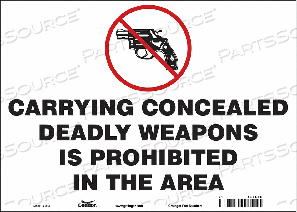 SAFETY SIGN 10 H X 14 W 0.004 THICK by Condor
