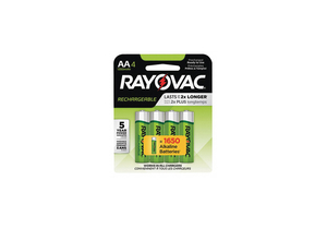 BATTERY RECHARGEABLE, AA, NICKEL METAL HYDRIDE, 1.2V, 1350 MAH, (PACK OF 4) by Rayovac