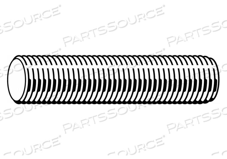 Threaded Stud,B7,Plain,1-1//2-8x9,PK8