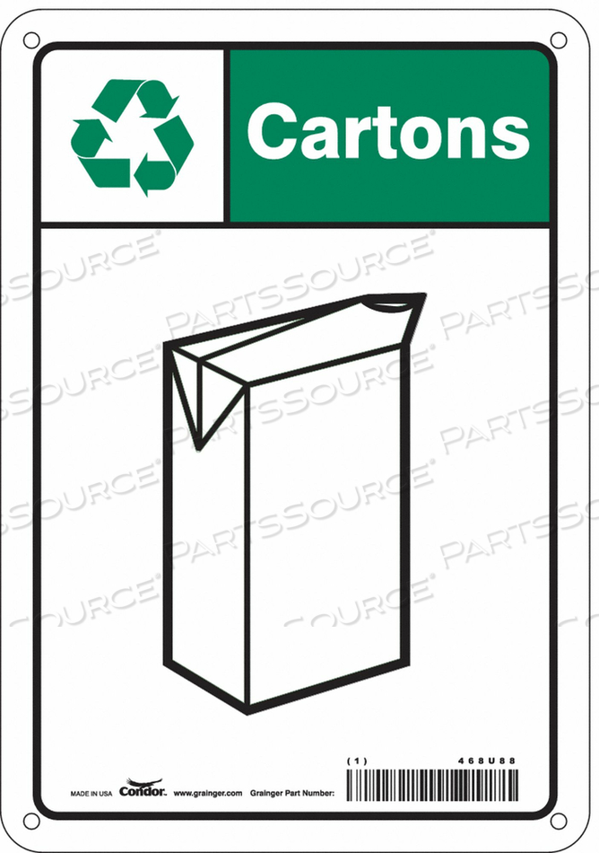 SAFETY SIGN 7 WX10 H 0.055 THICKNESS by Condor