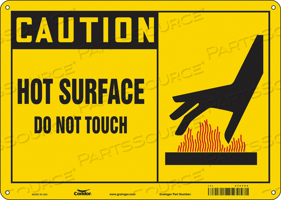 DANGER SIGN 14 W X 10 H 0.055 THICK by Condor