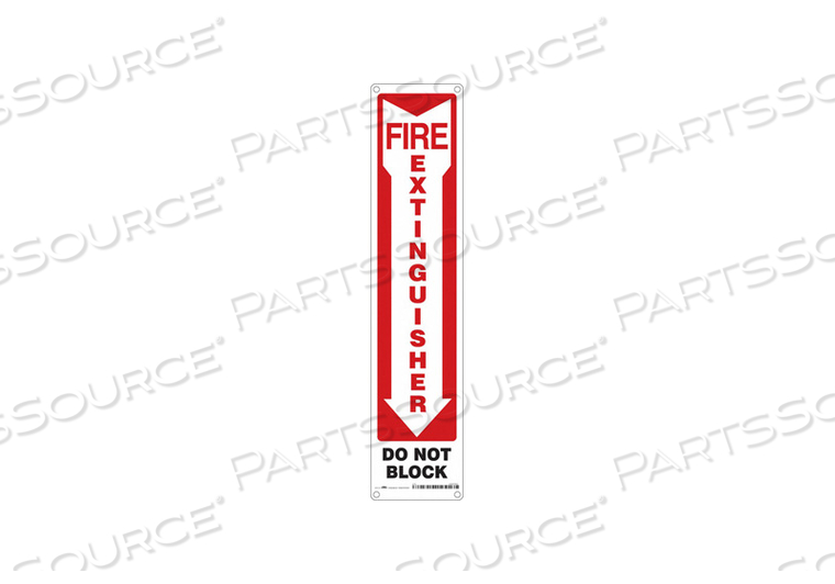 SAFETY SIGN 4 W 18 H 0.055 THICKNESS by Condor