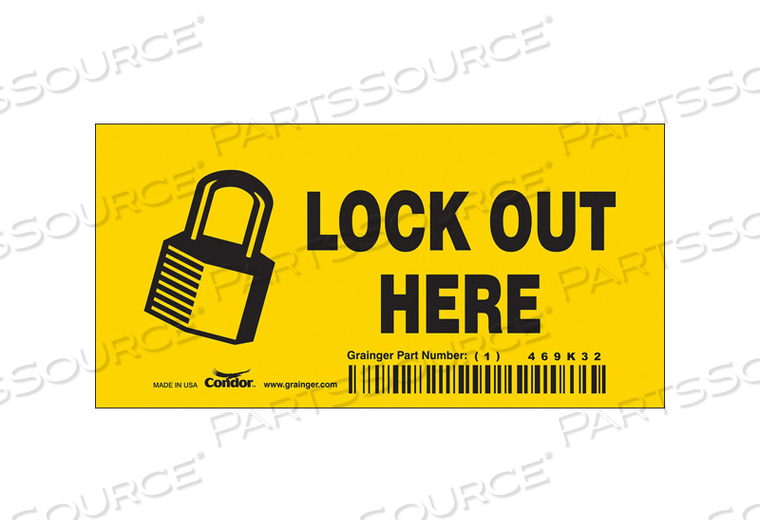SAFETY SIGN 4-1/2 W 2-1/4 H 0.004 THICK by Condor