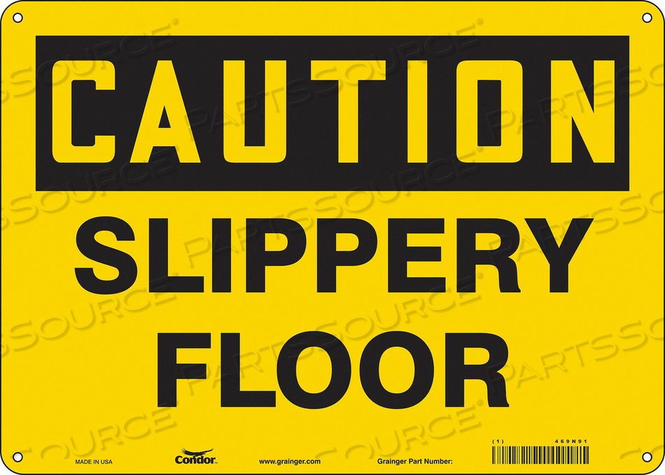 J6969 SAFETY SIGN 14 W 10 H 0.060 THICKNESS by Condor