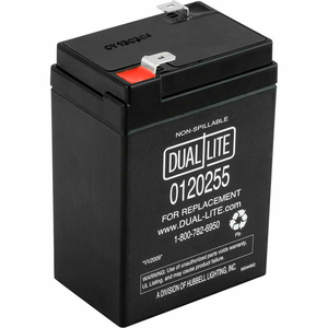 6V, 2A SEALED LEAD ACID REPLACEMENT BATTERY by Hubbell Power Systems