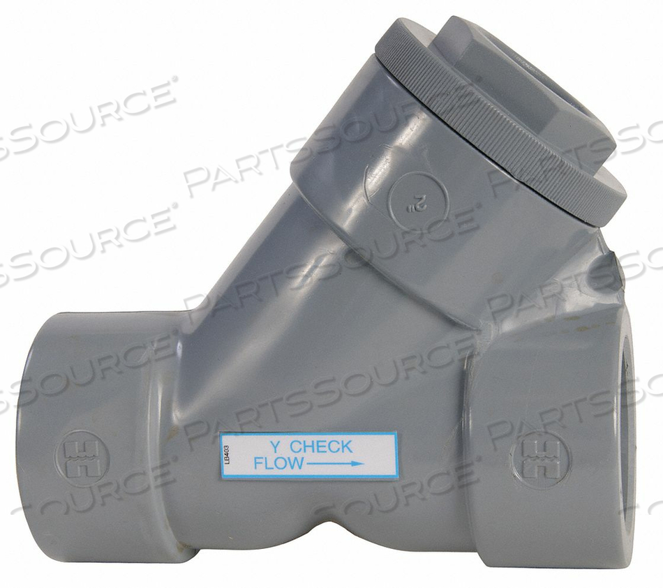 Y CHECK VALVE CPVC 1-1/4 FLANGE by Hayward
